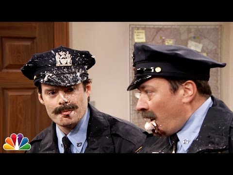 Jimmy Fallon and Bill Hader in Point Pleasant Police Department