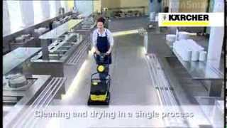 Μηχάνημα πλύσης-στέγνωσης δαπέδων BR 40/10 Αυτό το ισχυρό compact μηχάνημα έχει πλάτος εργασίας 400 mm και κάδο...