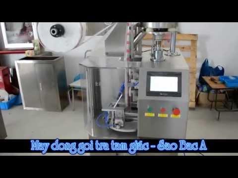 Video máy đóng gói trà túi lọc 3 góc