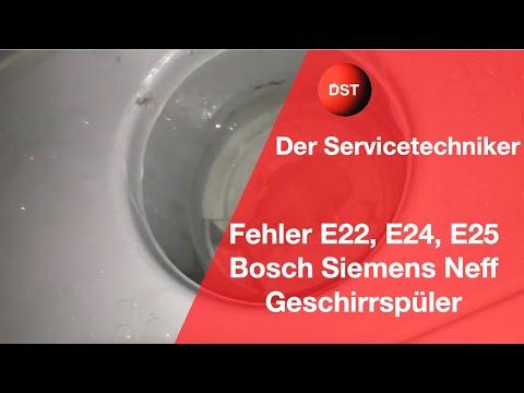 Bosch Siemens Constructa Geschirrspüler zeigt E22, E24 oder E25