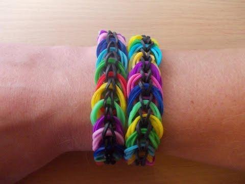 Rainbow Loom Bands Anleitung deutsch Spiralen Armband – Rubber Bandz bracelet tutorial