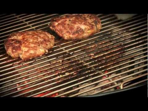 Weber's Recipe of the Week—Sesame-Hoisin Pork Burgers with Grilled Pineapple