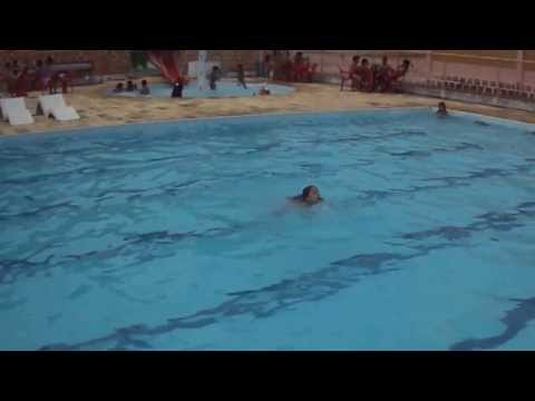 little girls swimming