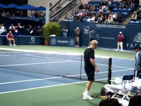 John McEnroe angry & argues with the crowd!