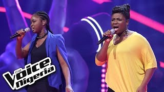 Emem vs Shammah singing 'Fallin' / The Voice Nigeria 2016