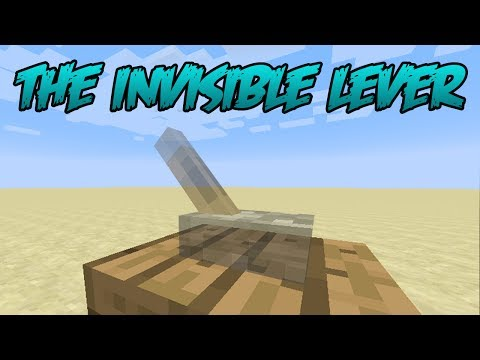 Minecraft 1.8 Tips & Tricks : The Invisible Lever
