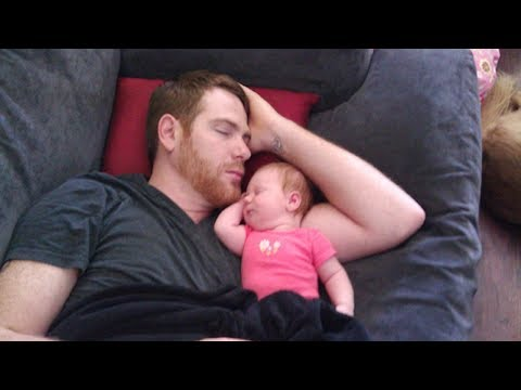 Cute Baby Sleeping With Daddy - Daddy's Best Friend