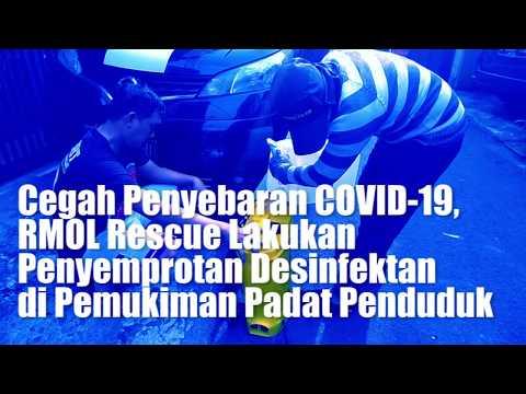 Cegah Penyebaran COVID-19, RMOL Rescue Lakukan Penyemprotan Desinfektan di Pemukiman Padat Penduduk