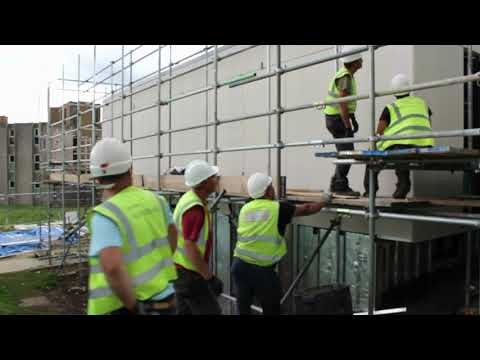 Time lapse - Marley Eternit rainscreen cladding installed at University of Kent, Canterbury