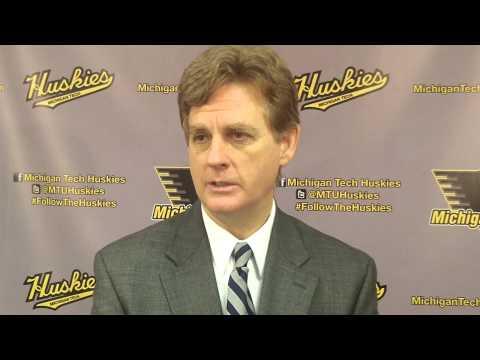 Coach Pearson Postgame Interview vs. Northern Michigan 2-21-14