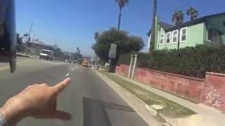 6. ofy Los Angeles yollarinda. Aprilia Scarabeo 100