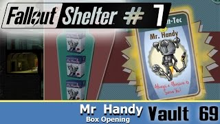 Vault 69 Mr  Handy box opening ~ Fallout Shelter Android walkt...