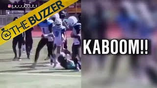 You won't want to miss this 14U tackle by @The Buzzer