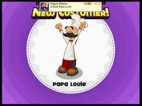 Papa's Cheeseria: Final Cutscene + Unlocking Papa Louie