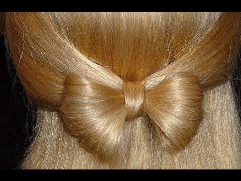 Прически бантики для средних волос