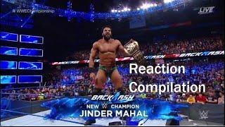 Video Jinder Mahal Wins WWE CHAMPIONSHIP at Backlash REACTION  COMPILATION MP3, 3GP, MP4, WEBM, AVI, FLV Mei 2017