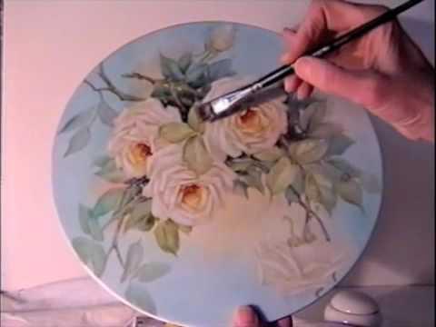 China Painting Tutorial - Peace Roses - Barbara Duncan