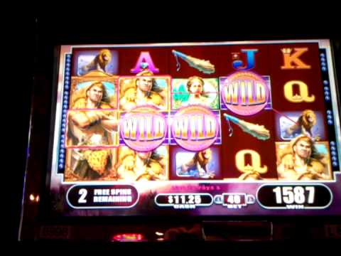 Hercules slot machine bonus and running video, Orleans Las Vegas, March 2013