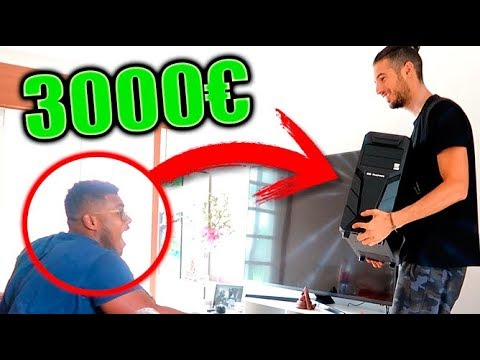 LE REGALO UN PC GAMER de +3000€ A MI AMIGO Y LLORA !! CON BROMA XDD Makiman131