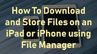 Download Lagu How To Download Files on iPad or iPhone using File Manager Mp3