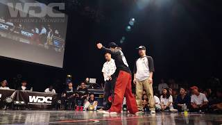 Co-thkoo (Gucchon & Kei) vs Funky Bee (Ringo Winbee & Yu-to) – WDC 2019 POPPIN' BEST4