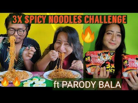 3x Spicy Noodles Challenge ft Parody Bala