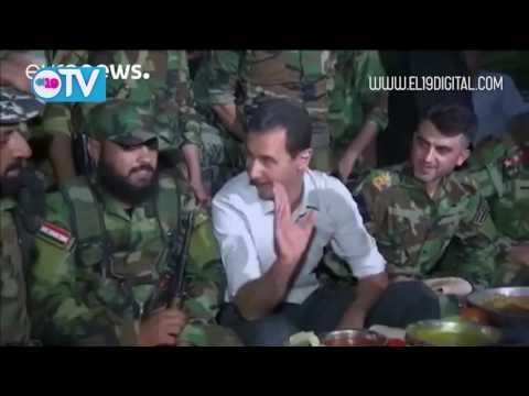 Bachar al Asad visita a las tropas sirias en el frente