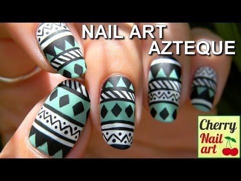 Nail art: Desenhos asteca