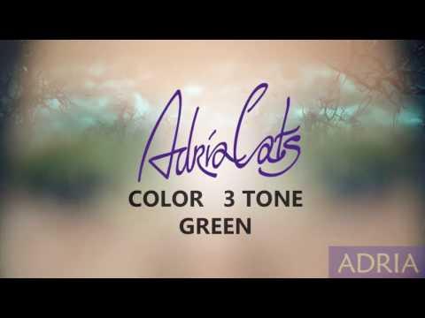 Adria Color 3Tone Green - цветные линзы.