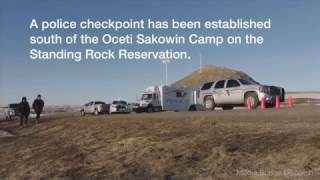 N.D. State Highway Patrol manage checkpoint on reservation land