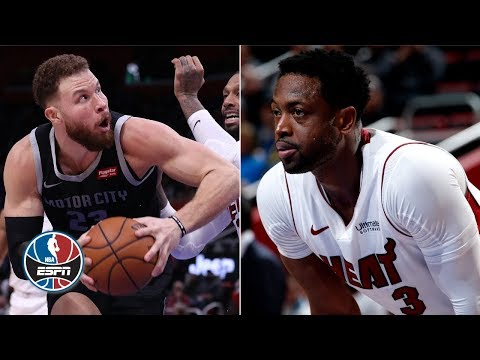 Video: Blake Griffin, Dwyane Wade go back-and-forth in Pistons' win vs. Heat   NBA Highlights