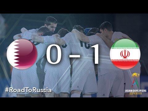 Катар - Иран 0:1. Видеообзор матча 23.03.2017. Видео голов и опасных моментов игры
