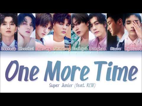 SUPER JUNIOR (슈퍼주니어) - ONE MORE TIME (Otra Vez) (Feat. REIK) (Color Coded Lyrics Eng/Rom/Han/가사)