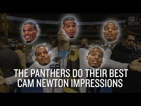 Video: Watch Cam Newton's teammates try to impersonate him