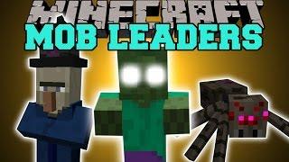 Minecraft: MOB LEADERS (CRAZY NEW ENEMIES!) Mod Showcase