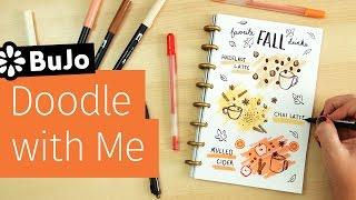 Bullet Journal Doodle with Me: Favorite Fall Drinks | Sea Lemon