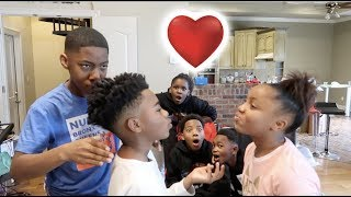 BAM & MIRAH FLIRTING PRANK ON FUNNYMIKE & THE KIDS!