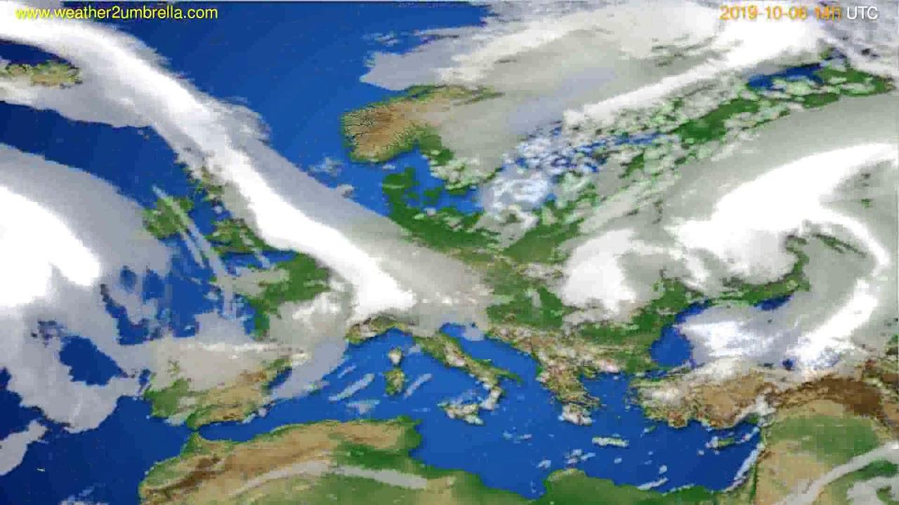 Cloud forecast Europe // modelrun: 00h UTC 2019-10-04