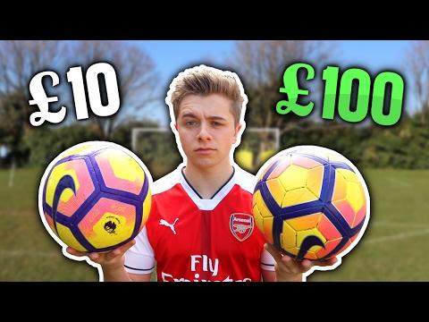 £10 Football Vs. £100 PREMIER LEAGUE Football (видео)