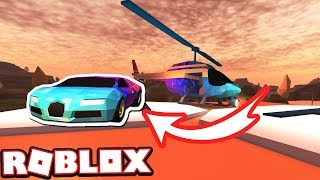 Jailbreak Mythbusters: CUSTOMIZING BUGATTI ON HELICOPTER PAD!!! (Roblox Jailbreak)