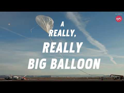 Vox Creative x KFC — The next way humans will get to space is a balloon.