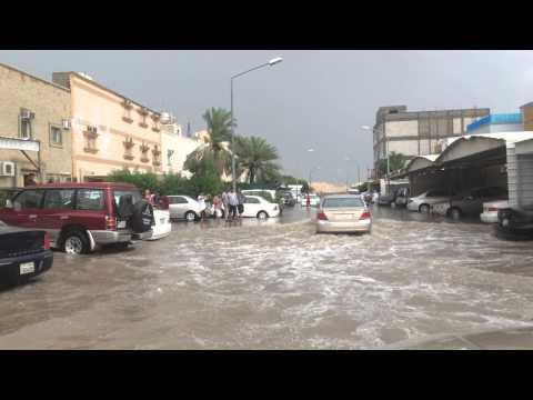 أمطار الجهراء منطقة القصر