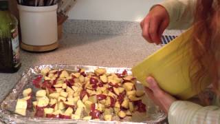 Step by step directions on how to make Oven Roasted Potatoes.