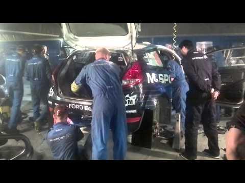 WRC México 2015 Tanak car runs again after crash
