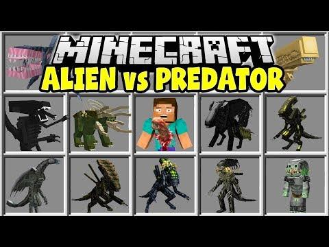 Minecraft ALIEN VS PREDATOR MOD | ALIENS, MARINES, GUNS, PREDATORS & MORE!!