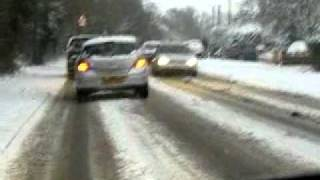 Brentwood United Kingdom  city photos : Snowy drive in Brentwood Essex UK