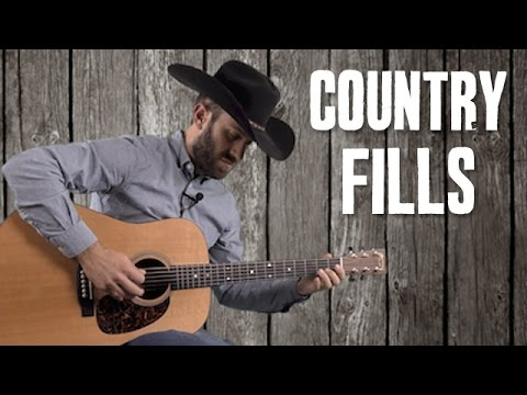Country Rhythm Guitar Fill Riffs Up the Neck with 1st Position Scales – Easy Guitar Lesson Tutorial