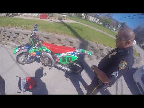 Confused cop pulls over CRF450r