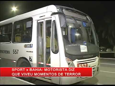 Torcedores depredam ônibus da linha PE-15/Boa Viagem