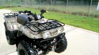 4. 2008 Kawasaki Prairie 360 4X4 Camo with Warn Winch